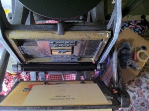 Amelia the printing press!